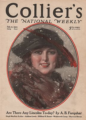 ORIG VINTAGE MAGAZINE COVER/ COLLIERS - FEBRUARY 11 1922illustrator- Will  Grefe - Product Image