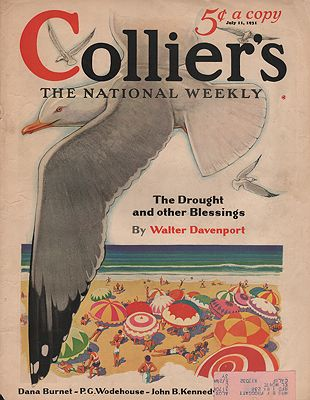 ORIG. VINTAGE MAGAZINE COVER/ COLLIER'S - JULY 11. 1931illustrator- N/A - Product Image