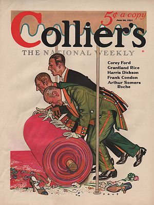 ORIG VINTAGE MAGAZINE COVER/ COLLIERS - JUNE 20 1931illustrator- Herbert  Paus - Product Image