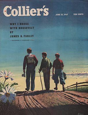 ORIG VINTAGE MAGAZINE COVER/ COLLIER'S - JUNE 21 1947illustrator- Stan  Ekman - Product Image