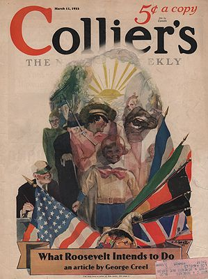 ORIG VINTAGE MAGAZINE COVER/ COLLIER'S - MARCH 11 1933illustrator- C.C.  Beall - Product Image