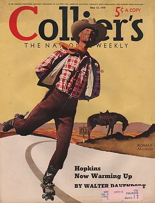 ORIG VINTAGE MAGAZINE COVER/ COLLIER'S - MAY 13 1939illustrator- Ronald  McLeod - Product Image