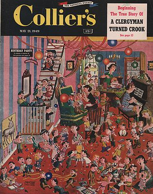 ORIG VINTAGE MAGAZINE COVER/ COLLIER'S - MAY 21 1949illustrator- Stanley and Janice  Berenstain - Product Image
