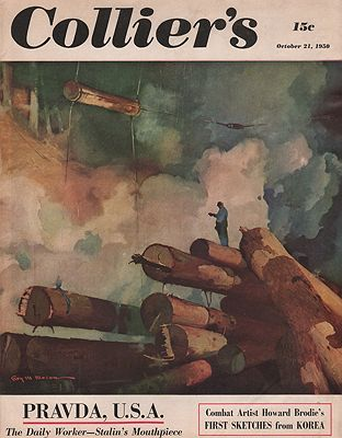 ORIG VINTAGE MAGAZINE COVER/ COLLIERS - OCTOBER 21 1950illustrator- N/A - Product Image