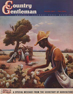 ORIG VINTAGE MAGAZINE COVER/ COUNTRY GENTLEMAN - AUGUST 1942illustrator- Thomas Hart   Benton - Product Image