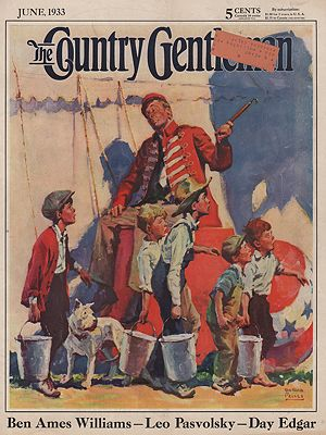 ORIG VINTAGE MAGAZINE COVER/ COUNTRY GENTLEMAN - JUNE 1933illustrator- William Meade  Prince - Product Image