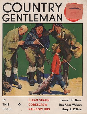 ORIG VINTAGE MAGAZINE COVER/ COUNTRY GENTLEMAN - JUNE 1934illustrator- William Meade  Prince - Product Image