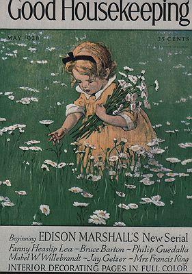 ORIG VINTAGE MAGAZINE COVER/ GOOD HOUSEKEEPING - MAY 1928illustrator- Jessie Wilcox  Smith - Product Image