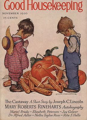 ORIG VINTAGE MAGAZINE COVER/ GOOD HOUSEKEEPING - NOVEMBER 1930illustrator- Jessie Wilcox  Smith - Product Image