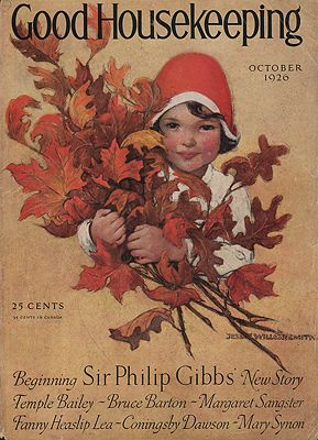 ORIG VINTAGE MAGAZINE COVER/ GOOD HOUSEKEEPING - OCTOBER 1926illustrator- Jessie Wilcox  Smith - Product Image