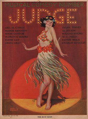 ORIG VINTAGE MAGAZINE COVER/ JUDGE - MARCH 15 1924illustrator- Sam  Brown - Product Image