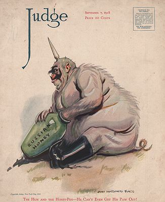 ORIG VINTAGE MAGAZINE COVER/ JUDGE - SEPTEMBER 7 1918illustrator- James Montgomery  Flagg - Product Image