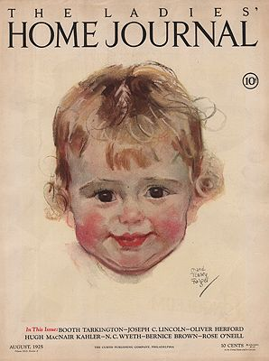 ORIG VINTAGE MAGAZINE COVER/ LADIES HOME JOURNAL - AUGUST 1925illustrator- Maud Tousey  Fangel - Product Image