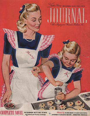 ORIG VINTAGE MAGAZINE COVER/ LADIES HOME JOURNAL - DECEMBER 1940illustrator- Al  Parker - Product Image