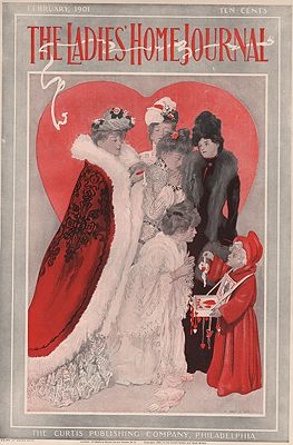 ORIG VINTAGE MAGAZINE COVER/ LADIE'S HOME JOURNAL - FEBRUART 1901illustrator- Henry   Hutt - Product Image