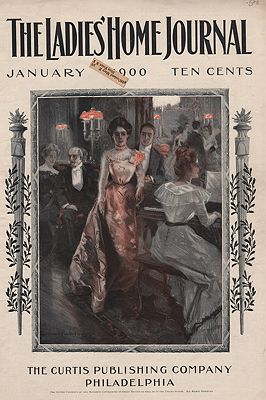 ORIG VINTAGE MAGAZINE COVER/ LADIES HOME JOURNAL - JANUARY 1900illustrator- Howard Chandler  Christy - Product Image