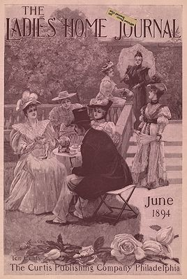 ORIG. VINTAGE MAGAZINE COVER/ LADIES HOME JOURNAL - JUNE 1894illustrator- Frank O.  Small - Product Image