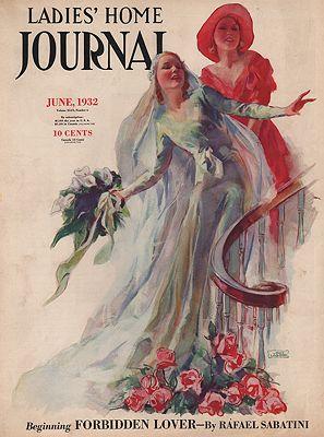 ORIG VINTAGE MAGAZINE COVER/ LADIES HOME JOURNAL - JUNE 1932illustrator- John  LaGatta - Product Image