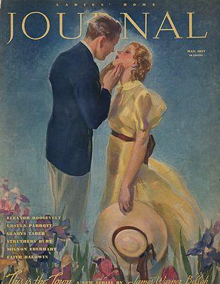 ORIG VINTAGE MAGAZINE COVER/ LADIES HOME JOURNAL - MAY 1937illustrator- John  LaGatta - Product Image