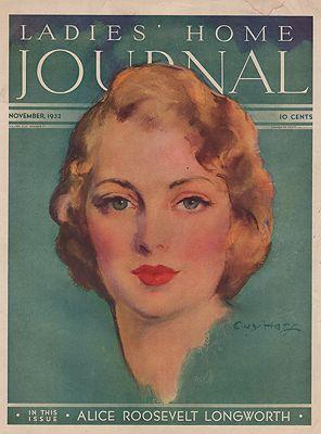 ORIG VINTAGE MAGAZINE COVER/ LADIES HOME JOURNAL - NOVEMBER 1932illustrator- Guy   Hoff - Product Image