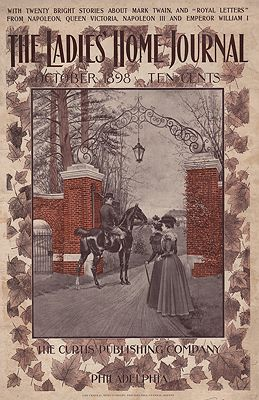 ORIG. VINTAGE MAGAZINE COVER/ LADIES HOME JOURNAL - OCTOBER 1898illustrator- N/A - Product Image