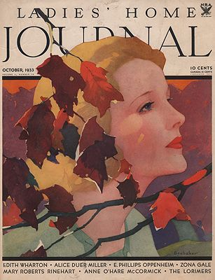 ORIG VINTAGE MAGAZINE COVER/ LADIES HOME JOURNAL - OCTOBER 1933illustrator- N/A - Product Image
