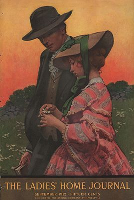 ORIG VINTAGE MAGAZINE COVER/ LADIES HOME JOURNAL - SEPTEMBER 1912illustrator- Ellen  McConnell - Product Image