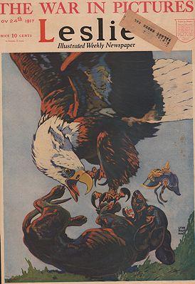 ORIG VINTAGE MAGAZINE COVER/ LESLIE - NOVEMBER 24 1917illustrator- Lynn Bogue  Hunt - Product Image