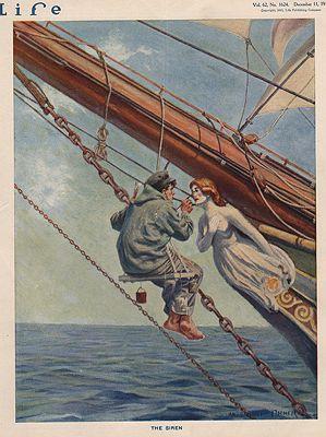 ORIG VINTAGE MAGAZINE COVER/ LIFE - DECEMBER 11 1913illustrator- Anton Otto  Fischer - Product Image