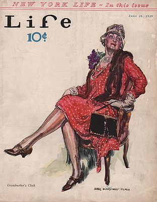 ORIG VINTAGE MAGAZINE COVER/ LIFE - JUNE 28 1929illustrator- James Montgomery  Flagg - Product Image