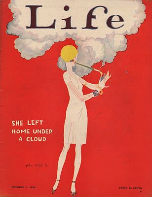ORIG. VINTAGE MAGAZINE COVER/ LIFE - OCTOBER 1 1925illustrator- John   Held, Jr. - Product Image