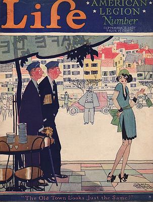 ORIG. VINTAGE MAGAZINE COVER/ LIFE - SEPTEMBER 8 1927illustrator- Russell  Patterson - Product Image