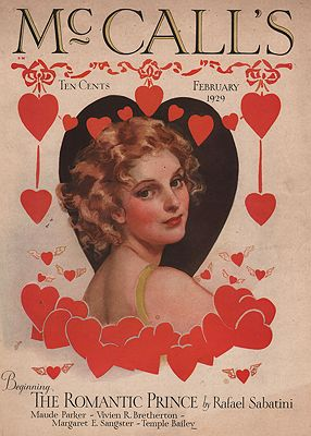 ORIG VINTAGE MAGAZINE COVER/ MCCALL'S - FEBRUARY 1929illustrator- Neysa  McMein - Product Image