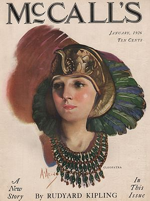 ORIG VINTAGE MAGAZINE COVER/ MCCALL'S - JANUARY 1926illustrator- Neysa  McMein - Product Image