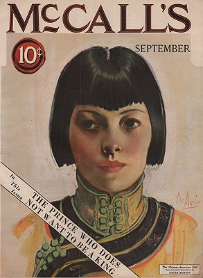 ORIG VINTAGE MAGAZINE COVER/ MCCALL'S - SEPTEMBER 1924illustrator- Neysa  McMein - Product Image