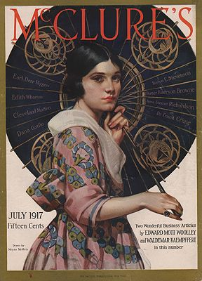 ORIG VINTAGE MAGAZINE COVER/ MCCLURE'S - JULY 1917illustrator- Neysa  McMein - Product Image