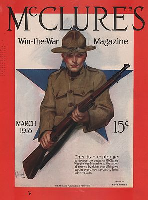 ORIG VINTAGE MAGAZINE COVER/ MCCLURE'S - MARCH 1918illustrator- Neysa  McMein - Product Image