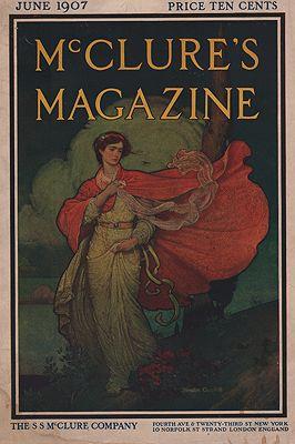 ORIG VINTAGE MAGAZINE COVER/ MCCLURE'S MAGAZINE JUNE 1907illustrator- Blendon  Campbell - Product Image