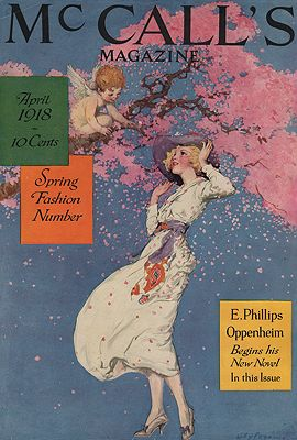 ORIG VINTAGE MAGAZINE COVER/ McCALL'S - APRIL 1918illustrator- Willy  Pogany - Product Image