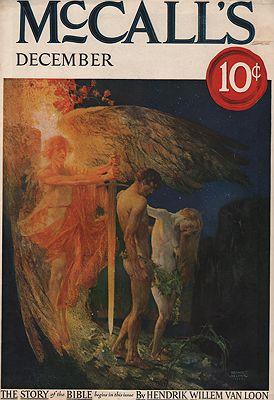 ORIG VINTAGE MAGAZINE COVER/ McCALL'S - DECEMBER 1922 illustrator- Arthur  Becher - Product Image