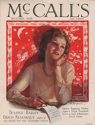 ORIG VINTAGE MAGAZINE COVER/ McCALL'S - DECEMBER 1929illustrator- Neysa  McMein - Product Image
