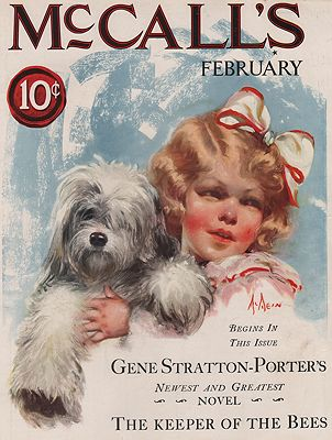 ORIG VINTAGE MAGAZINE COVER/ McCALL'S - FEBRUARY 1925illustrator- Neyse  McMein - Product Image