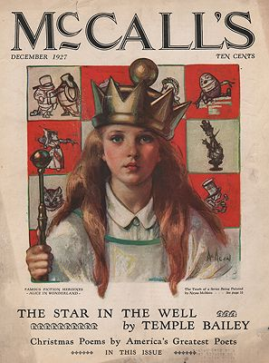 ORIG VINTAGE MAGAZINE COVER/ McCALL'S DECEMBER 1927illustrator- Neysa  McMein - Product Image