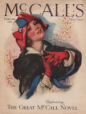 ORIG VINTAGE MAGAZINE COVER/ McCALL'S FEBRUARY 1928illustrator- N/A - Product Image