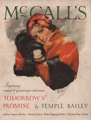 ORIG VINTAGE MAGAZINE COVER/ McCALL'S MARCH 1931illustrator- Neysa  McMein - Product Image