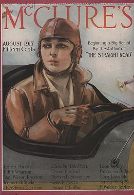ORIG VINTAGE MAGAZINE COVER/ McCLURE'S - AUGUST 1917illustrator- Neysa  McMein - Product Image