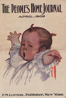 ORIG VINTAGE MAGAZINE COVER/ PEOPLE'S HOME JOURNAL APRIL 1909illustrator- Rose  O'Neill - Product Image