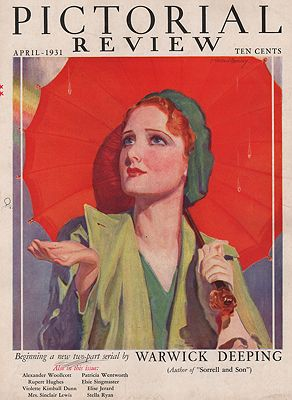 ORIG VINTAGE MAGAZINE COVER/ PICTORIAL REVIEW - APRIL 1931illustrator- McClelland  Barclay - Product Image