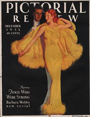 ORIG VINTAGE MAGAZINE COVER/ PICTORIAL REVIEW - DECEMBER 1932illustrator- McClelland  Barclay - Product Image