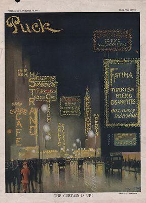 ORIG. VINTAGE MAGAZINE COVER/ PUCK - OCTOBER 10 1914illustrator- Willard  Van Ornum - Product Image